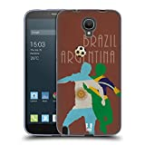 Head Case Designs Argentina Vs Brazil Football Rivalries Soft Gel Case for Alcatel Hero 2