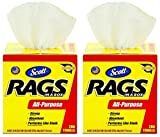 Scott Rags In A Box (75260), White, 200 Shop Towels per box, 2 Cases (8 Boxes)