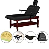 Master-Massage-31-Montclair-Stationary-Spa-salon-Massage-Table-Pro-Black-Lift-Back-with-Memory-Foam