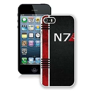 Mass Effect N White iPhone 5s Phone Case Genuine Custom Cover