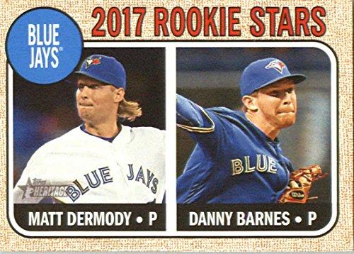 (2017 Topps Heritage #393 Danny Barnes/Matt Dermody Toronto Blue Jays Baseball Card)