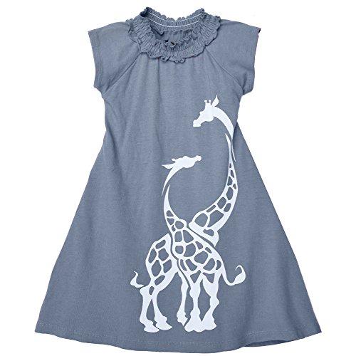 Wee Urban Girls Fashion, Organic Cotton, Short Sleeve, Grey Giraffe, Sundress, Party Dress, Size 2 (Animal Dress For Kids)