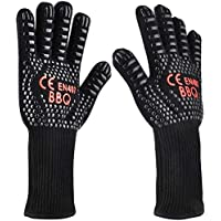 BBQ Gloves Heat Protection BBQ Baking Gloves Heat Resistant Non-Slip Cooking Gloves Oven Gloves up to 800 °C XL for…
