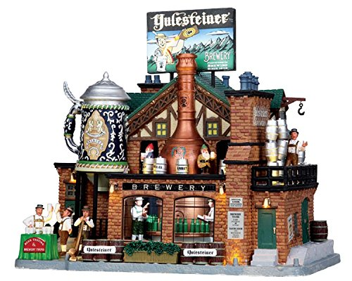 Lemax Village Collection Yulesteiner Brewery with Adaptor # - Village Houses Lemax