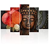 Visual Art Decor Buddha Wall Decor Giclee Canvas Prints Home Decoration Yoga Room Living Room Buddha Wall Art Decoration Artwork (Large)