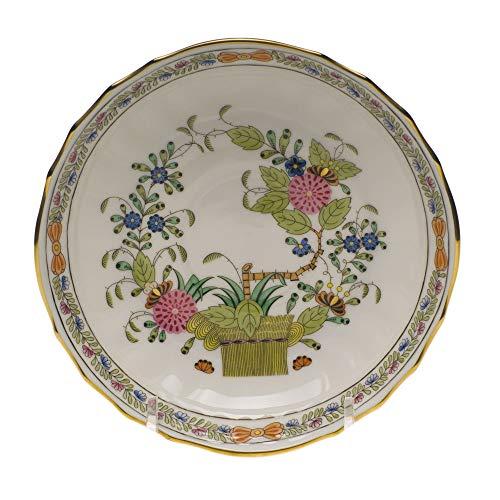 Herend Baskets - Herend Indian Basket Porcelain Canton Saucer