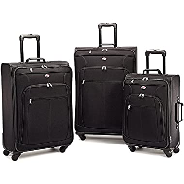 American Tourister At Pops Plus 3 Piece Nested Set, Black, One Size