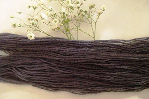 (Charcoal Gray Soft Fingering Weight Wool Blend Sock Yarn)