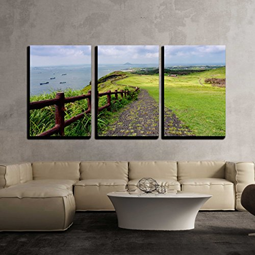 Landscape of Jeju Island South Korea x3 Panels