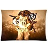 NBA Basketball Lebron James Pillowcase Rectangle Zippered Two Sides Design Printed 20x26 pillows Throw Pillow Cover Cushion Case Covers