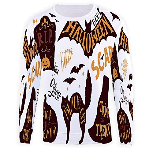 Adult Vintage Halloween Crewneck Sweatshirt]()