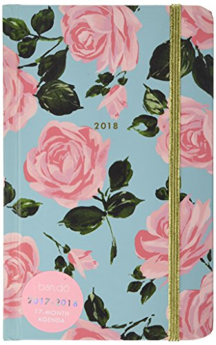 ban.do design 17 Month Agenda 2017-18 Academic Calender, Rose Parade, 5.125'' x 8.125'' (70530) by Bando