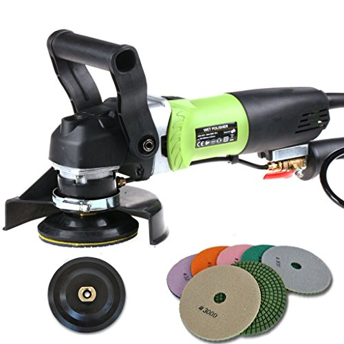 SPTA 110V 4inch (100mm) Variable Speed Wet Polisher for Granite/Marble/Concrete/Stones (Polish Stone Machine compare prices)