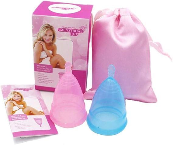2 Pack Copas Menstruales Orgánicas Cómoda Copa Menstrual ...