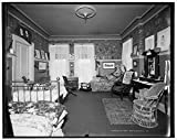 Vintography 8 x 10 Ready to Frame Pro Photo of Residence of Mrs H C Parke Bed Room Detroit Mich 1903 Detriot Publishing 96a