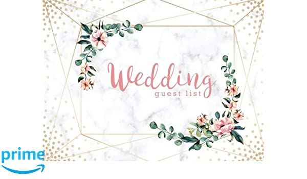 Wedding Guest List Wedding Guest Tracker Wedding Guest