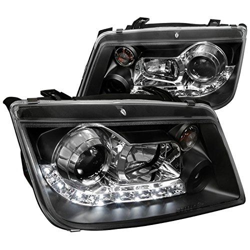 - Spec-D Tuning LHP-JET99JM-8-TM Black Projector Headlight (R8 Style Halo Led)