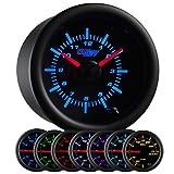 GlowShift Black 7 Color Clock Gauge by GlowShift