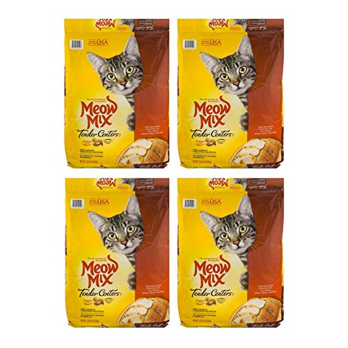 Meow Mix Tender Centers Dry Cat Food - 4 Pack of 13.5 Lb by Meow Mix