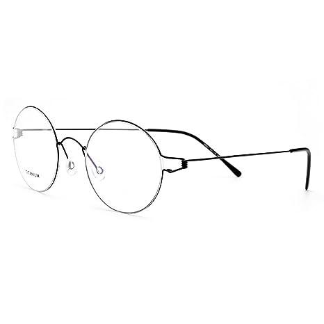 Tianou Struttura senza telaio in titanio puro di materiale occhiali da vista telaio (Giallo) 6N0bDhU5