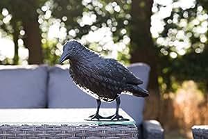 kraehe Negro aprox. 38cm Con estaca Deko Cuervo Jardín Cuervo decorativo de plástico