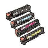 QINK Set of 4 PK ( BK C M Y ) CE320A 128A Laser Toner For HP CE320A CE321A CE322A CE323A Compatible With HP Color LaserJet Pro CM1415FNW CP1525NW
