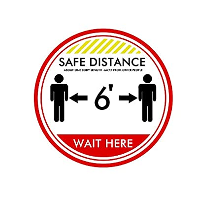 10 Pairs Foot Stickers Please Practice Social distancing Floor Sign. Virus Safety Sign. 11