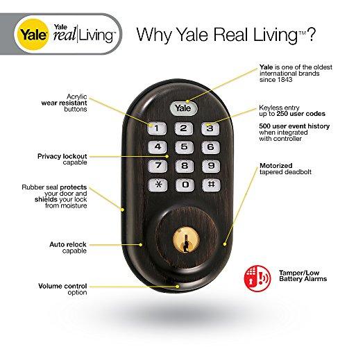 Yale Real Living Keyless Push Button Z-Wave Deadbolt