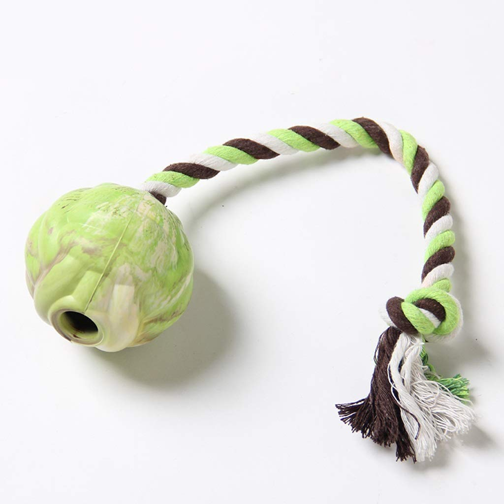 SYFO Pet Dog Toy Molar Tooth Cotton Rope Ball Resistant to Bite, Large Dog Rubber Training Interactive Toy Ball Pet Toys (Size : 398cm)