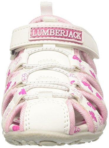 Lumberjack Linda - Tacones Niñas Rosa (White/Fuxia)
