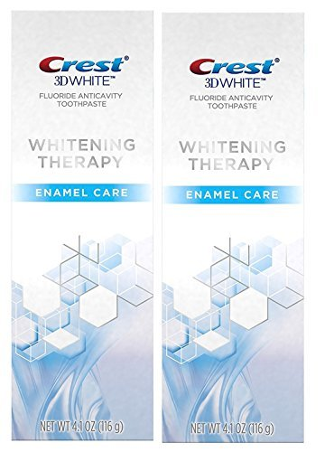 Crest 3D White Whitening Therapy Enamel Care Fluoride Anticavity Toothpaste 4.1 oz (Pack of ()