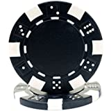 Trademark Poker 100 Striped Chip, 11.5gm, Black