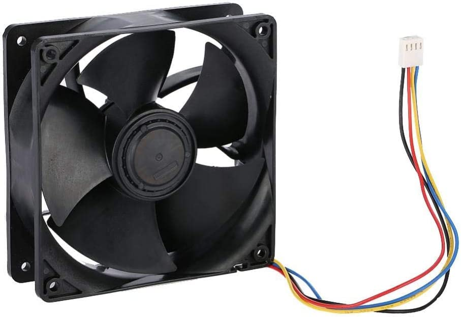 Wendry Cooling Fan for Mining High Speed up to 6500RPM Fast Heat Dissipation Cooler 6500RPM High Speed Cooling Fan Low Noise Cooling Fan Computer Mining