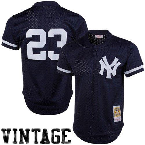 Don Mattingly Navy New York Yankees Authentic Mesh Batting Practice Jersey X-Large (48)
