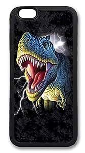 iPhone 6 Cases, Lightening Rex Dinosaur Durable Soft Slim TPU Case Cover for iPhone 6 4.7 inch Screen (Does NOT fit iPhone 5 5S 5C 4 4s or iPhone 6 Plus 5.5 inch screen) - TPU Black
