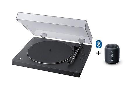 Sony PS-LX310BT+SRSXB12, Altavoz, 1, Negro