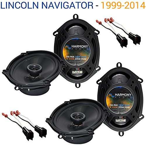 (Fits Lincoln Navigator 1999-2014 Factory Speaker Replacement Harmony (2) R68 Package )