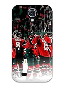 Hot Minnesota Wild Hockey Nhl (96) First Grade Tpu Phone Case For Galaxy S4 Case Cover