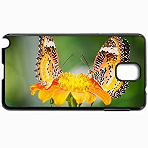 Customized Cellphone Case Back Cover For Samsung Galaxy Note 3, Protective Hardshell Case Personalized Butterfly Black