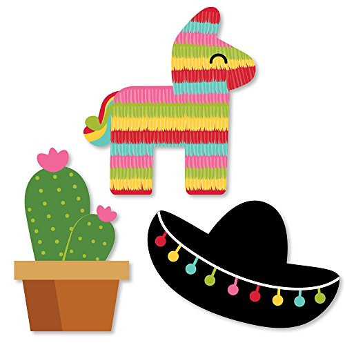 (Big Dot of Happiness Let's Fiesta - DIY Shaped Mexican Fiesta Party Cut-Outs - 24 Count)