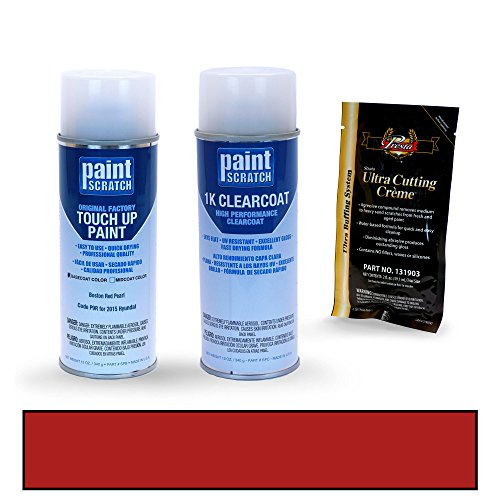 [2015 Hyundai Veloster Boston Red Pearl P9R Touch Up Paint Spray Can Kit by PaintScratch - Original Factory OEM Automotive Paint - Color Match Guaranteed] (Factory Spray Paint)