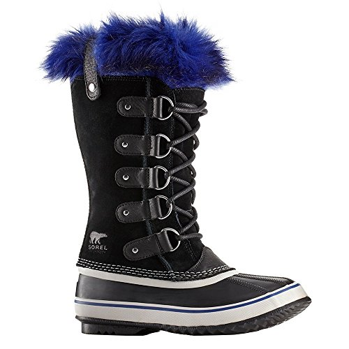 Leather Calf Large (SOREL Women's Joan of Arctic Boot, Black/Aviation, 12 M US)