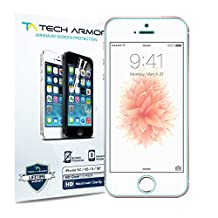 Tech Armor iPhone 5S / iPhone 5C / iPhone 5 Premium High Definition (HD) Clear Screen Protector - Lifetime Replacement Warranty [3-Pack] - Retail Packaging