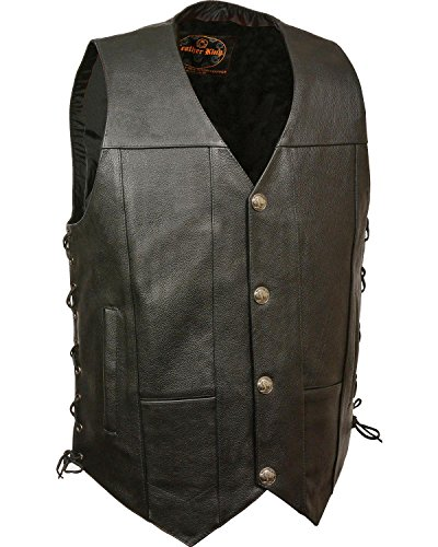 Milwaukee Leather Men's Side Lace Vest Black XX-Large