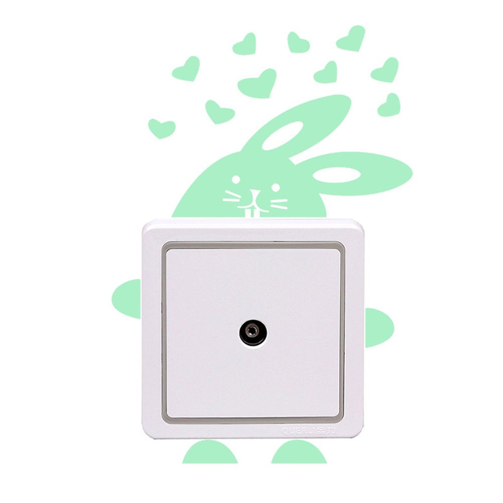 Vosarea Leuchtende Wandaufkleber Cartoon Wandtattoos Schalter Dekor fü r Wohnzimmer Schlafzimmer Kinderzimmer (Kaninchen)