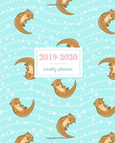 Amazon.com: 2019-2020 Weekly Planner: Cute Baby River Otter ...