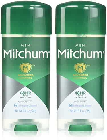 Mitchum Advanced Control Antiperspirant & Deodorant Gel for Men, 3.4 oz. (x2), unscented, mens deodorant