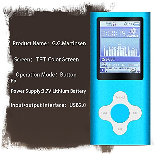 G.G.Martinsen MP3//MP4 Player with a 16GB Micro SD Card D Mini USB Port 1.8 LCD