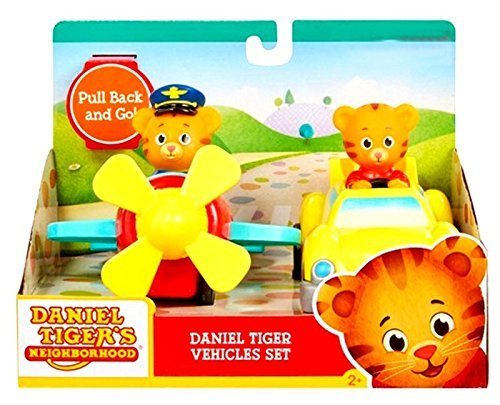 Tigers 2 Car - Daniel Tiger Pull Back Vehicles Set of 2 Airplane and Car