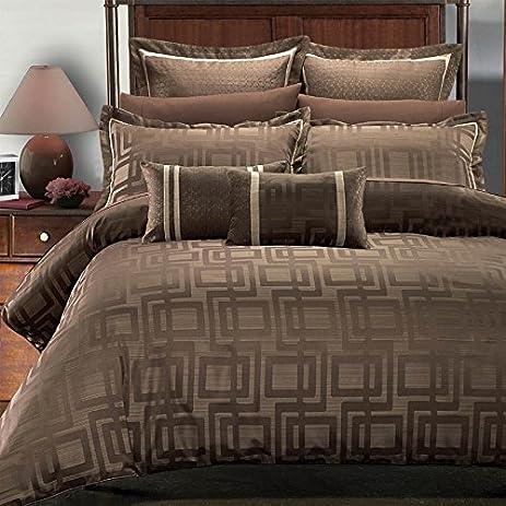 deluxe u0026 rich jacquard design in warm stylish tones janet comforter set elegant and